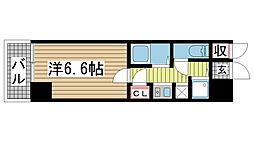 ロイヤルヒル神戸三ノ宮II[407号室]の間取り