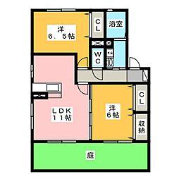 casa・L C棟[1階]の間取り