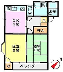 神奈川県藤沢市城南5丁目の賃貸アパートの間取り