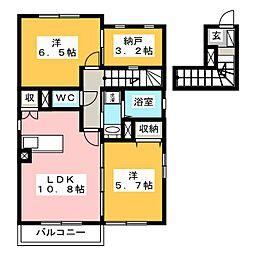 コーエツA[2階]の間取り