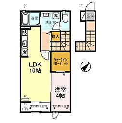 D-roomエンゼル[205号室]の間取り