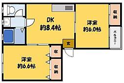 やまさマンション[3階]の間取り