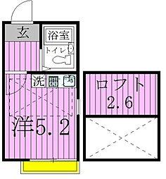 ベルエステート竹ノ塚A[202号室]の間取り