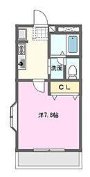愛知県名古屋市名東区八前1丁目の賃貸アパートの間取り
