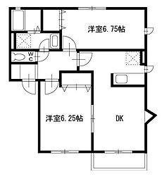 アイコート湘南B[1階]の間取り