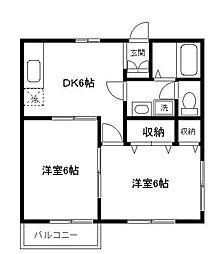 昌和マンション[2階]の間取り