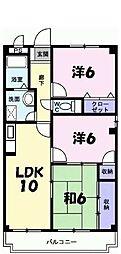 兵庫県西宮市山口町上山口の賃貸マンションの間取り