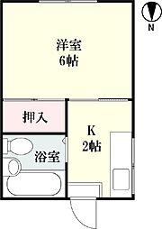 松隈アパート[1号号室]の間取り