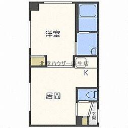 ラ・セーヌ麻生[1階]の間取り
