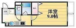 ルミナール海老江[903号室]の間取り