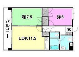UTARA HOUSE[501号室]の間取り