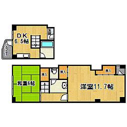 塚本南コーポ[4階]の間取り