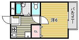 大阪府茨木市総持寺1丁目の賃貸アパートの間取り