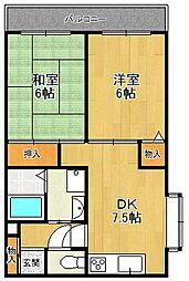 ルネッサンス武庫之荘[2階]の間取り