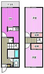 [テラスハウス] 奈良県磯城郡田原本町 の賃貸【/】の間取り
