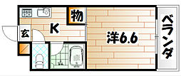 福岡県北九州市戸畑区幸町の賃貸マンションの間取り