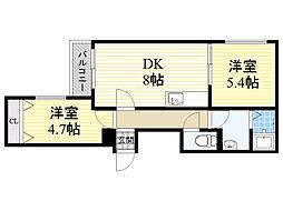北海道札幌市東区北12条東12丁目の賃貸マンションの間取り