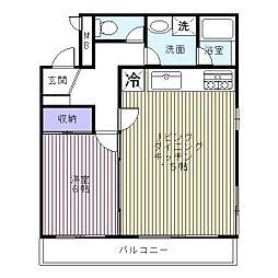 梅田ビル[0302号室]の間取り