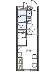 東京都三鷹市深大寺3丁目の賃貸アパートの間取り