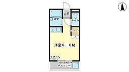 兵庫県姫路市増位本町2丁目の賃貸アパートの間取り