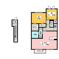サンヒルズ C棟[2階]の間取り