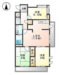 エスポワール尾崎[5階]の間取り