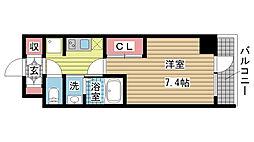 兵庫県神戸市須磨区行幸町4丁目の賃貸マンションの間取り