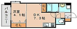 ギャラクシー県庁口[5階]の間取り