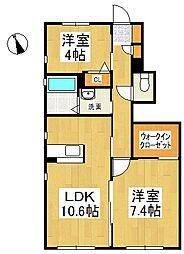 ラ・セゾン I[1階]の間取り