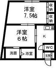 クレッセントハウス和合[2階]の間取り