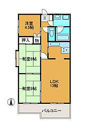 カワタビル2[4階]の間取り