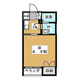桂山サコウハイツIII[1階]の間取り