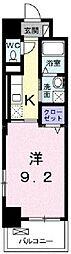 JR宇野線 備前西市駅 徒歩33分の賃貸マンション 8階1Kの間取り
