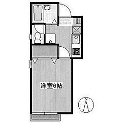 神奈川県川崎市麻生区百合丘2の賃貸アパートの間取り