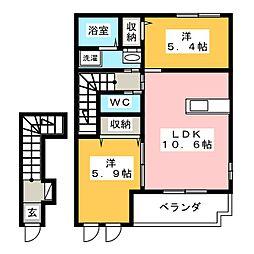 グリーン・ローズ 壱番館[2階]の間取り