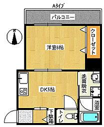 プラヤ住之江[5階]の間取り