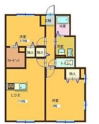 コンフォート大島IIIA棟[102号室]の間取り