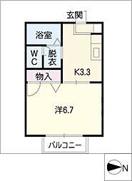 エスポワール鶴里[2階]の間取り
