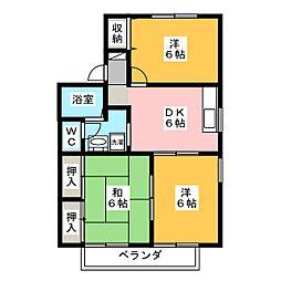 パインツリー A[1階]の間取り