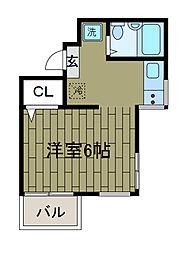 町田リバーサイドハウス[3階]の間取り