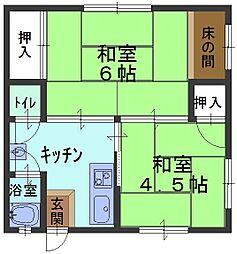 兵庫県芦屋市南宮町の賃貸アパートの間取り