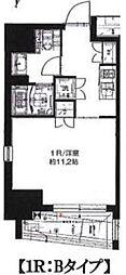 サンイング飯田橋 3階ワンルームの間取り