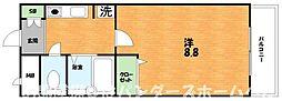 大阪府枚方市長尾荒阪2丁目の賃貸マンションの間取り
