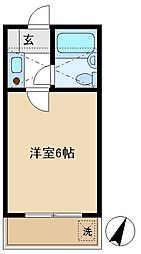 大つかハイツ 205[2階]の間取り
