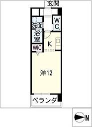 WEST鶴舞[5階]の間取り