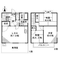 [テラスハウス] 神奈川県川崎市麻生区千代ケ丘1丁目 の賃貸【/】の間取り