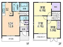 [テラスハウス] 埼玉県本庄市東五十子 の賃貸【/】の間取り
