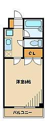 ハイム京浜[3階]の間取り