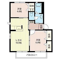 メゾン・ド・シャンテE[2階]の間取り