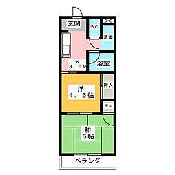 リバーサイドL1[3階]の間取り